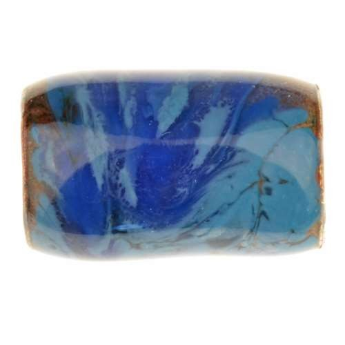 C-Koop Copper Enamel Slider Oval Large Hole 25mm - Bluebell