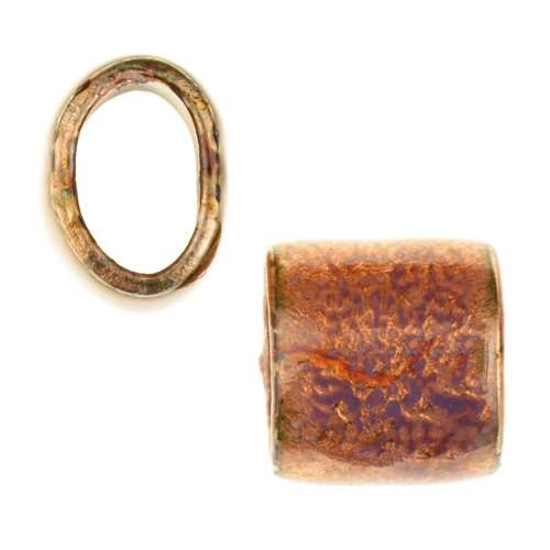 C-Koop Copper Enamel Slider Oval Large Hole 13mm - Sunset