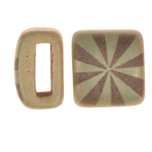 Clay River / Lillypilly Slider Flat 10mm Starburst - Patina Green