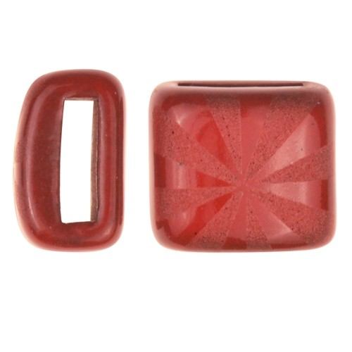 Clay River / Lillypilly Slider Flat 10mm Starburst - Red