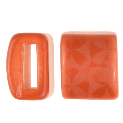 Clay River / Lillypilly Slider Flat 10mm Flowers - Cinnamon