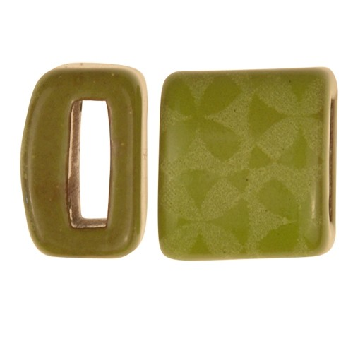 Clay River / Lillypilly Slider Flat 10mm Flowers - Lime
