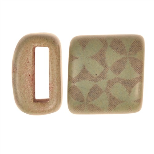 Clay River / Lillypilly Slider Flat 10mm Flowers - Patina Green