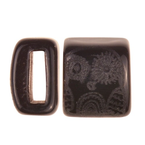 Clay River / Lillypilly Slider Flat 10mm Owl - Black