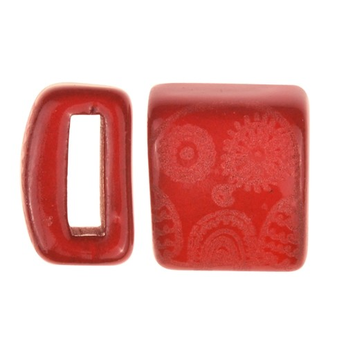 Clay River / Lillypilly Slider Flat 10mm Owl - Red