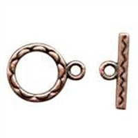 Clasp Toggle Round 12mm (2) - Antique Copper