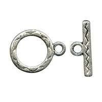 Clasp Toggle Round 12mm (2) - Antique Silver