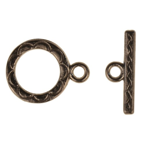 Clasp Toggle Round 12mm (2) - Gunmetal