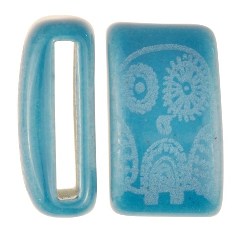 Clay River / Lillypilly Slider Flat 20mm Owl - Teal Blue