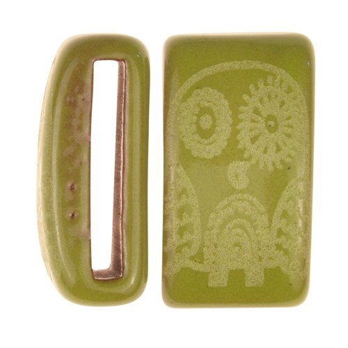 Clay River / Lillypilly Slider Flat 20mm Owl - Lime