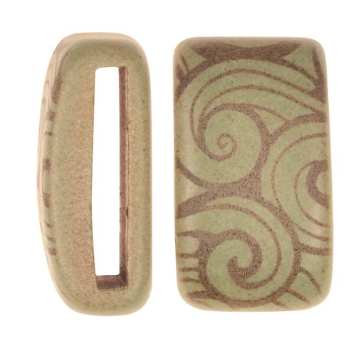 Clay River / Lillypilly Slider Flat 20mm Wave - Patina Green