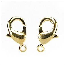 Clasp Lobster 12mm (2) - Gold Plated