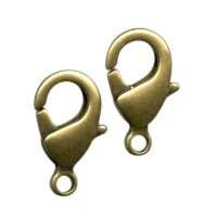 Clasp Lobster 15mm (2) - Antique Brass