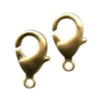 Clasp Lobster 15mm (2) - Satin Hamilton Gold