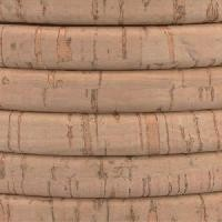 Regaliz Portuguese Cork 10mm Oval Cord - Natural - per inch