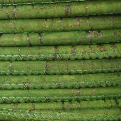 Portuguese 5mm ROUND Cork Cord - Grass Green