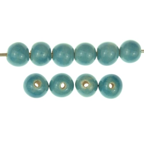 Claycult 6mm Round Ceramic Bead - Egyptian Blue