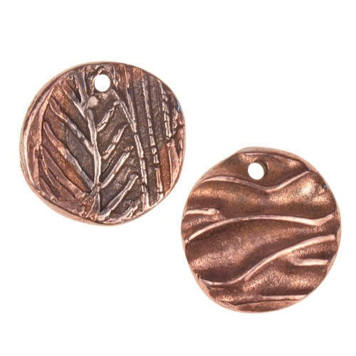 Dorabeth Mixed Metal Charm - Round Small