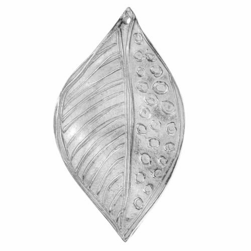 Dorabeth Pendant Drop Abstract Leaf Large - Bright