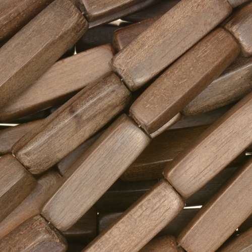Graywood Bead Rectangular Wood Cube 7x20mm - strand