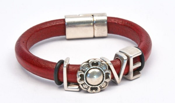 Blooming Love Regaliz Leather Bracelet