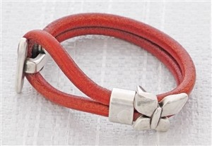 Autumn Splendor Euro Leather Bracelet