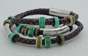 Uptown Cowgirl Braided Euro Leather Bracelet
