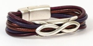 Mulberry Round Leather Bracelet