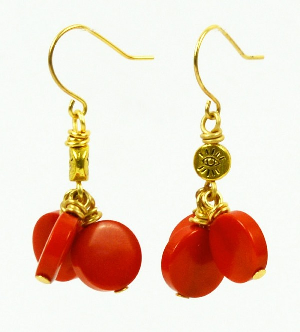 Red Coins Earrings