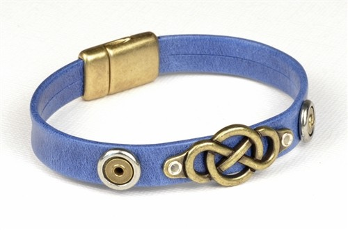 Infinity Blues Vintage Leather Bracelet