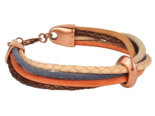 Groovy Copper 3mm Suede Cord Bracelet
