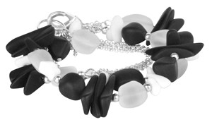 Coal to Diamonds Convertible Sea Glass Necklace or Bracelet
