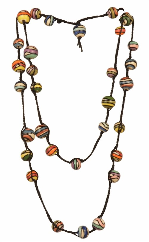Rainbow Braid Convertible Claycult Necklace/Bracelet