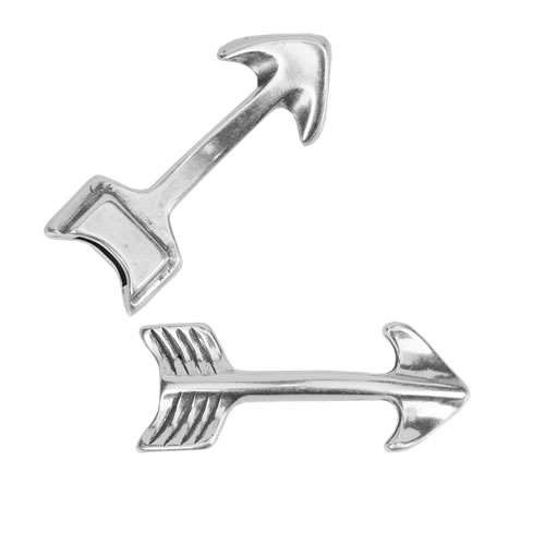 5mm flat ARROW clasp ANTIQUE SILVER