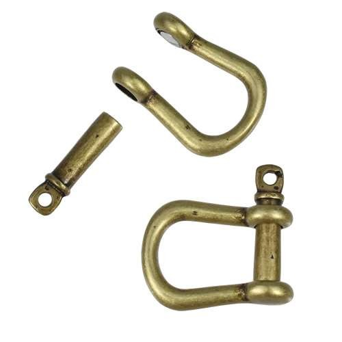 Multi Shackle Pin Magnetic Clasp - Antique Brass