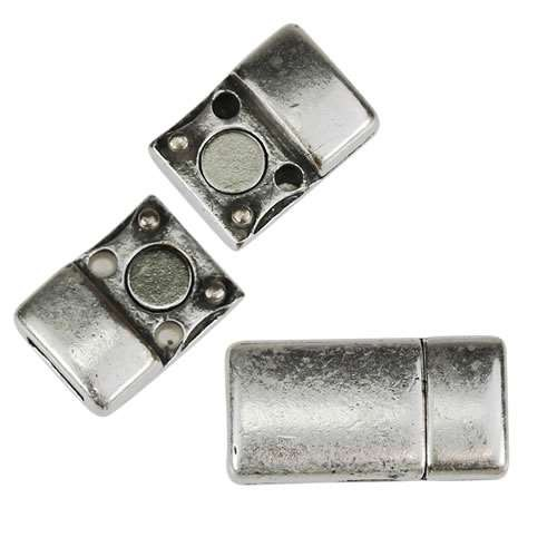5mm flat SIMPLE magnetic clasp ANTIQUE SILVER