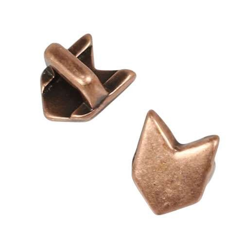 3mm flat CHEVRON slider ANT COPPER