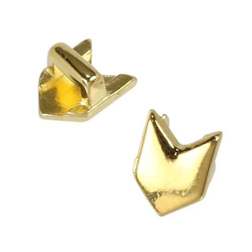 3mm flat CHEVRON slider SHINY GOLD