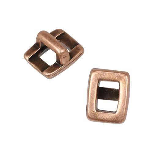 3mm flat RECTANGLE FRAME slider ANT COPPER