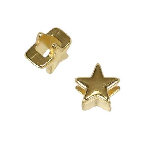 3mm flat STAR slider SHINY GOLD