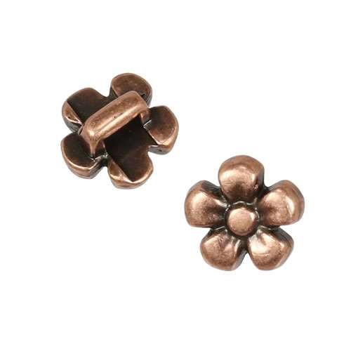 3mm flat DAISY slider ANT COPPER