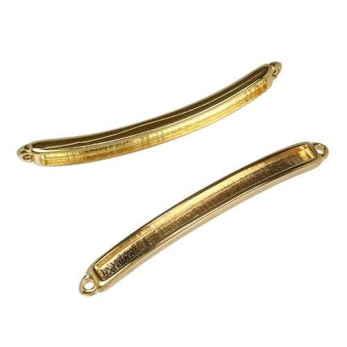 3mm flat ID BAR slider SHINY GOLD