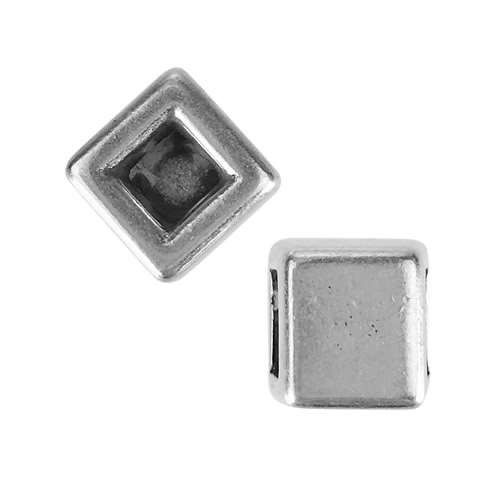 5mm Flat Reversible Square Slider - Antique Silver