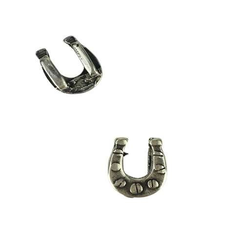 5mm Flat Horseshoe Slider - Antique Silver