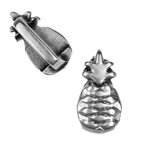 5mm Flat Pineapple Slider - Antique Silver
