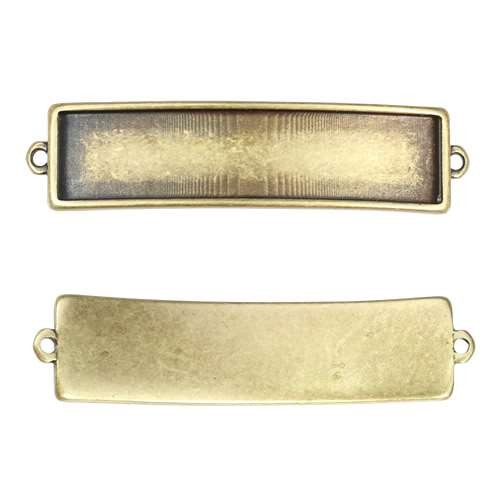 10mm Flat Id Bar Slider - Antique Brass