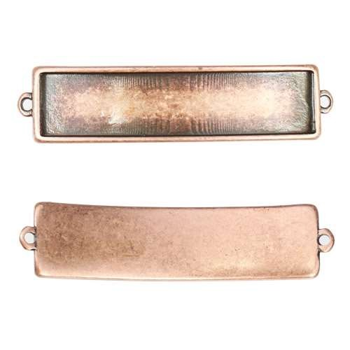 10mm Flat Id Bar Slider - Antique Copper