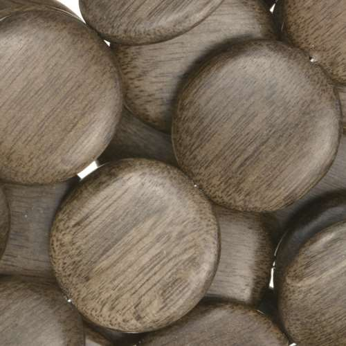 Graywood Bead Coin 20mm - strand