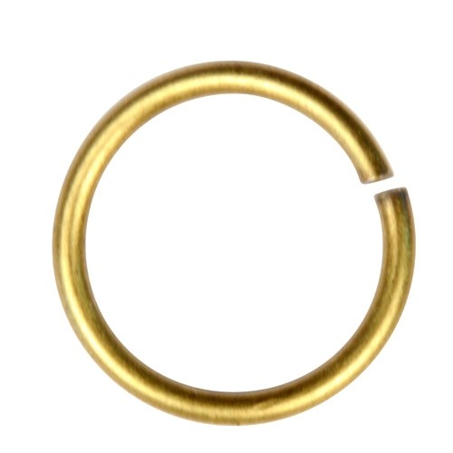 Jump Ring 15mm 14g - Antique Brass