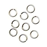 Jump Ring 6mm 18g (40) - Antique Silver